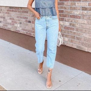 Levi's Wedgie Straight High-Rise Cropped Jeans